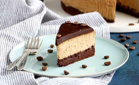 Brownie cheesecake au café