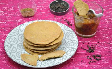 Papadums et son chutney de mangue