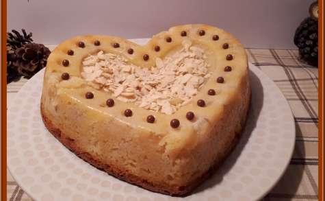 Gâteau au yaourt pommes poires et amandes