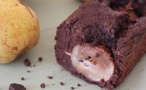 Gâteau au yaourt chocolat-poire