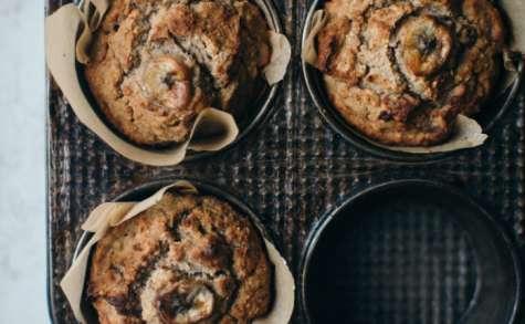 Muffins de sarrasin, banane et gingembre