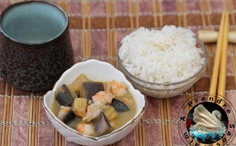 Crevettes thaï à l'aubergine