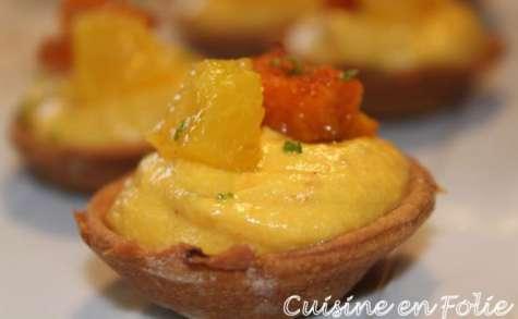Tartelettes apéritives potimarron et orange