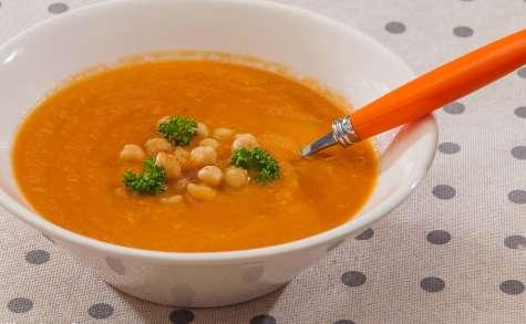 Soupe aux carottes et pois chiches
