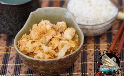 Poulet thaï au chou