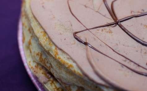 Gâteau de crêpes au Nutella