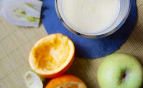 Smoothie à la pomme verte fenouil orange et citron vert