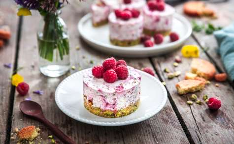 Cheesecake framboises pistaches