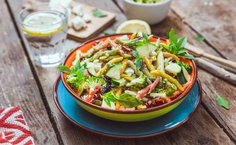Salade de pâtes et légumes