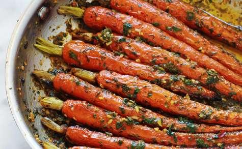 Carotte en sauce citronnée aux herbes et épices (chermoula)