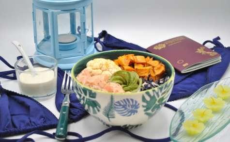 Poke bowl aux légumes d'hiver