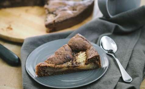 Gâteau poires et chocolat à la farine de châtaigne