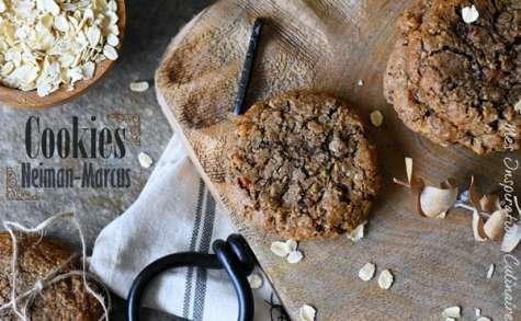 Biscuits rustiques aux flocons d'avoine, pepites de chocolat et noix