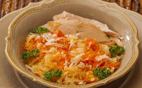 Salade de carotte au chou et à l'orange