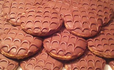 Biscuits granola maison au chocolat au lait