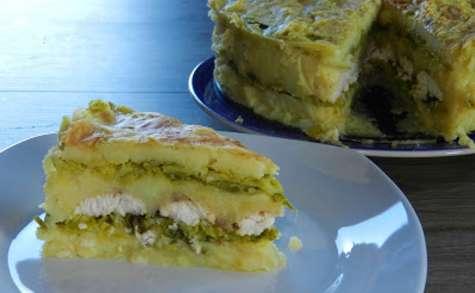 Gâteau de pomme de terre au chou vert et cabillaud