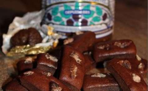 Mini-lingots marron-chocolat