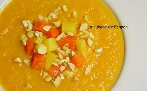 Soupe panais carotte et céleri rave