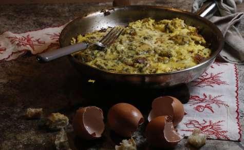 Omelette à l'oseille et aux croûtons