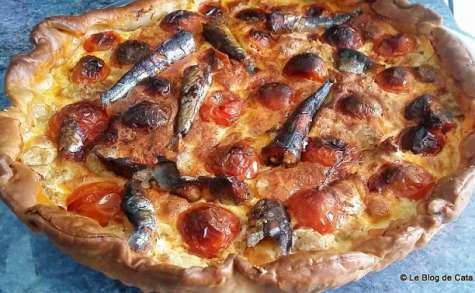 Tarte thon, sardines et tomates