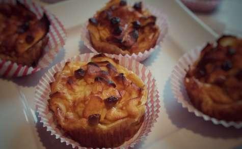 Muffins façon invisible aux pommes et pointe de fudge caramel