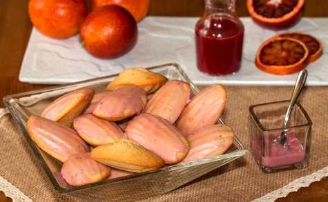 Madeleines glacées à l'orange sanguine