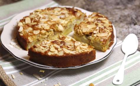 Gâteau amandes poires à la farine de maïs