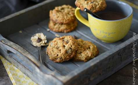 Cookies chocolat et flocons d'avoine