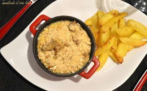 Cassolette d'andouillette au camembert, moutarde et vin blanc