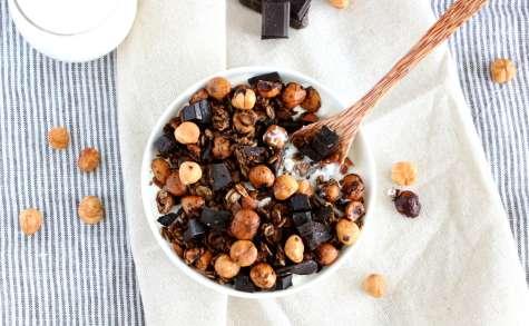 Granola chocolat-café aux noisettes