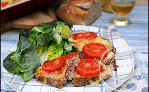 Tartines savoyardes gratinées au jambon, fromage et vin blanc