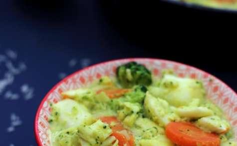 Curry de poisson et légumes à l'indienne