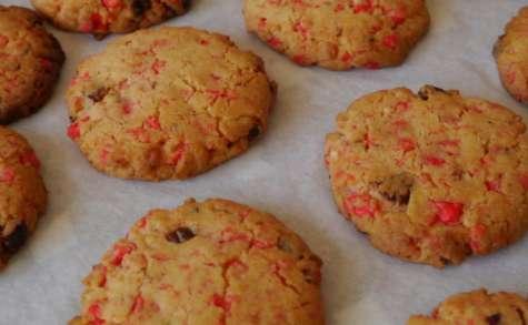 Cookies aux pralines roses et noix de pécan caramélisées