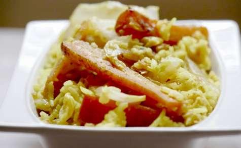 Cataplana de légumes aux saveurs asiatiques.