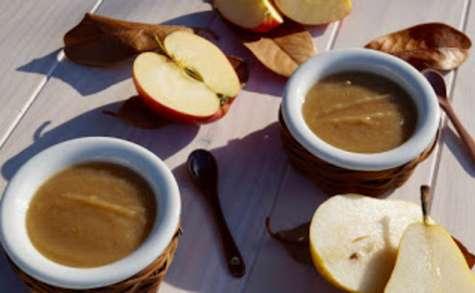 Compote pomme poire crème de marrons