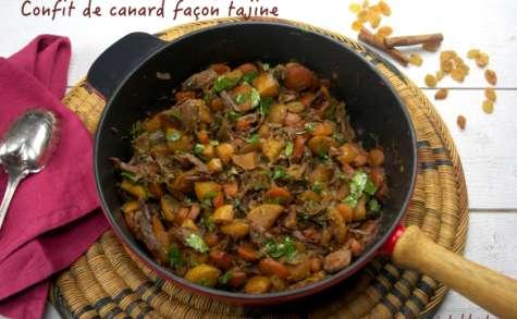 Confit de canard façon tajine aux carottes et navets boule d'or
