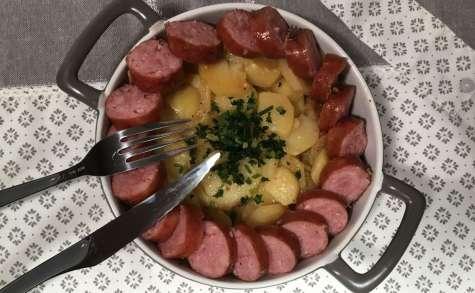 Saucisses de Montbéliard et ses pommes de terre