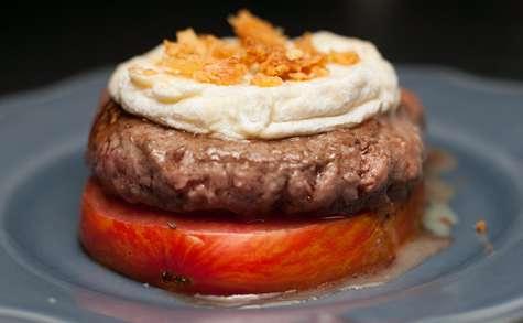 Burger de tomate au rocamadour