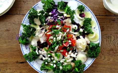 Salade complète sauce tahin