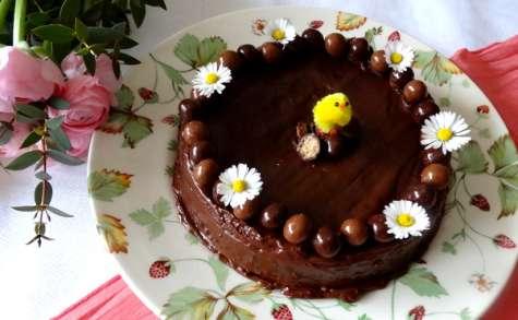 Gâteau de Pâques au chocolat et glaçage Baileys