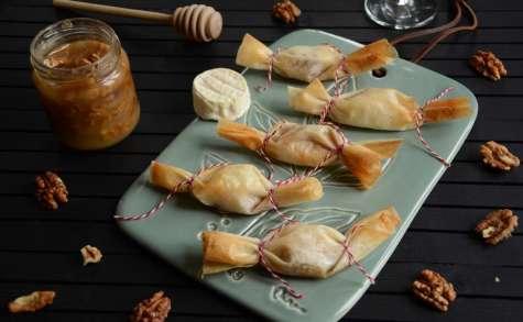 Bonbons de fromage miel et noix