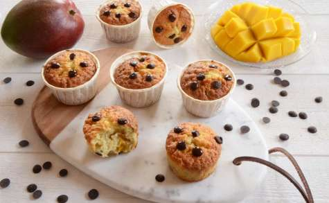 Muffins mangue pépites de chocolat