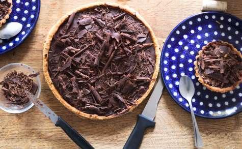 Tarte chocolat caramel vegan