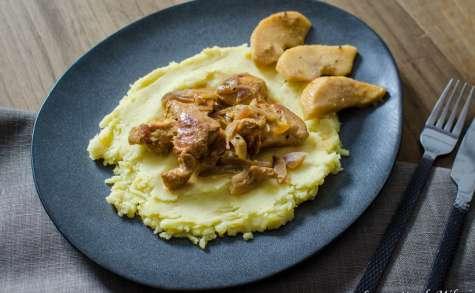 Aiguillettes de poulet au cidre et à la moutarde