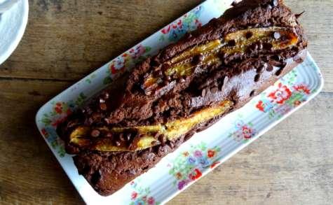 Le cake au chocolat et banane
