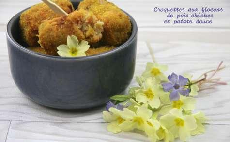 Croquettes de flocons de pois-chiches à la patate douce