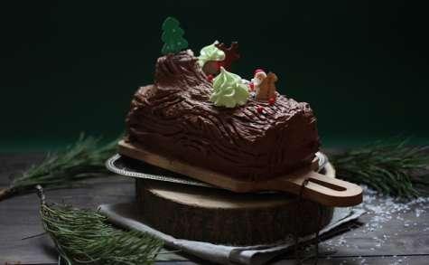 Bûche traditionnelle chocolat façon tronc