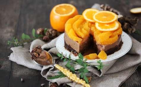 Entremets orange chocolat