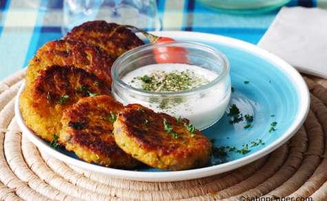 Galettes de patate douce et quinoa