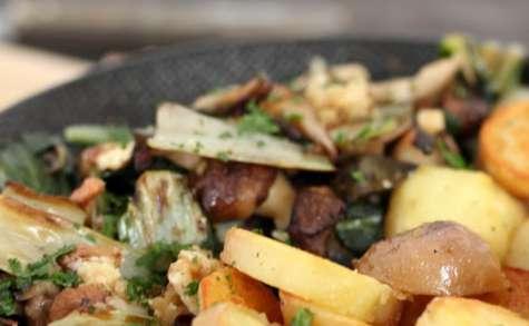 Sauté de blettes, pommes de terre et shiitakes